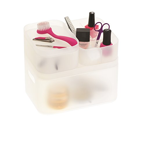 Danielle 6 Piece Frosted Acrylic Beauty Organizer Set by Danielle