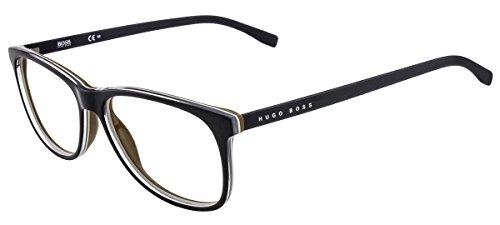 Hugo Boss BO-0220-FIG-18-55-18-140 Orange Brillengestelle BO-0220-FIG-18-55-18-140 Rechteckig Brillengestelle 55, Schwarz