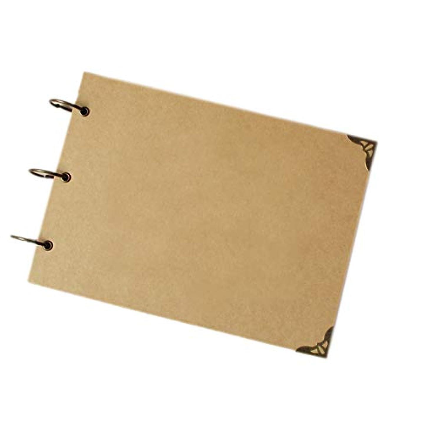 MINLIN A4 Ring Binder Photo Album Kraft Scrapbook Wedding Album Scrapbook Wedding Guest Book (Craft Insert)