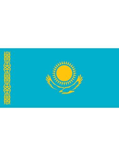"""TrendClub100® Fahne Flagge """"Kasachstan Kazakhstan KZ"""" - 150x90 cm / 90x150cm"""