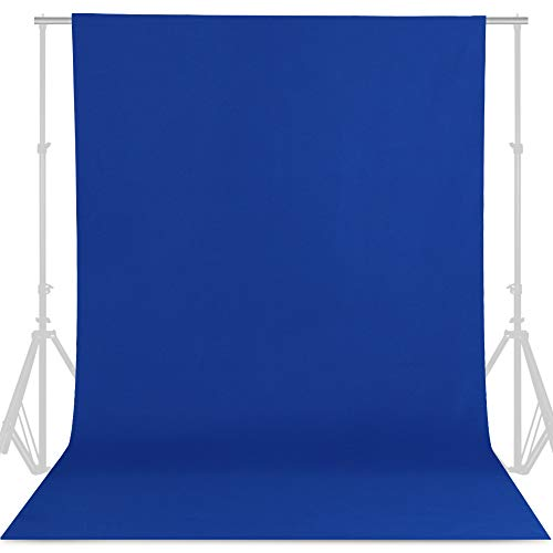 GFCC 6FT x 10FT Royal Blue Backdrop Background Blue Photo Background Photography Backdrop for Photoshoot Screen for Video Recording Picture