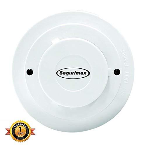 Detector Incendio Fumaca Segurimax Universal Convencional Ganho Corrente 12/24V C/Base 25913