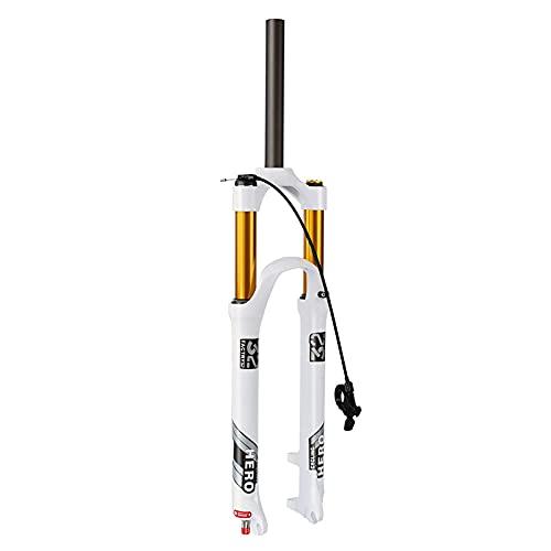 YMSHD Horquilla de suspensión de Bicicleta de 26/27.5/29 Pulgadas Horquilla de Aire MTB con Ajuste de amortiguación Horquilla de suspensión neumática Horquilla de MTB Buje de liberación