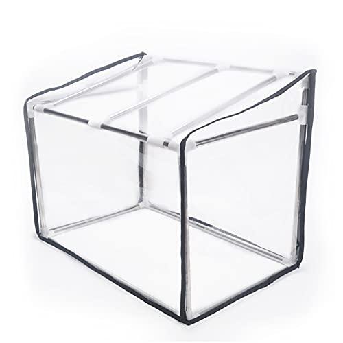 Greenhouses Kit Trapezoidal Mini Efecto Invernadero Suculento Planta Pequeña Planta Cobertizo Espesado Transparente Suave Película De Vidrio Aislamiento A Prueba De Lluvia ( Size : 120*40*50*4