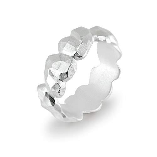 Drachenfels Luxus Damenring mit Herzen | Kollektion Heartbreaker | Niedlicher Herz Ring in Echtsilber | Edler Designer-Schmuck aus 925 Sterling Silber | Gr. 62