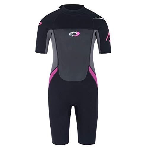 Osprey, Girl's Origin, kurzer Neopren-Anzug, 3/2 mm, dick, in Mehreren Farben erhältlich XS schwarz/pink