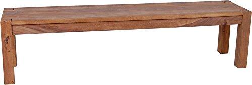 MiaMöbel Bank Thali 120 cm Modern Massivholz Sheesham Sheesham Natur