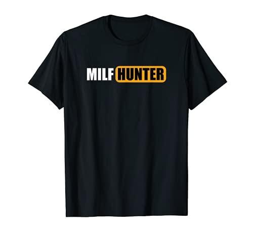 MILF HUNTER erotic gift for Adults Men Porn Sex Gentlemen T-Shirt