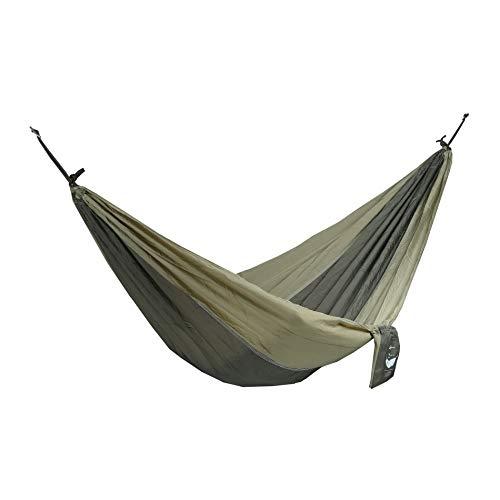 Rebecca Mobili Hängematte Outdoor Militärgrün Nylon Gewicht Max120 Kg Garten Camping - 275x136 cm (B x T) - Art. RE6312
