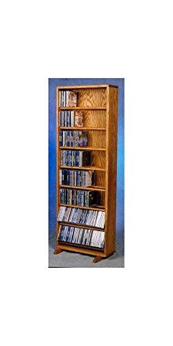 18.25 in. Dowel CD Storage Tower (Honey Oak)