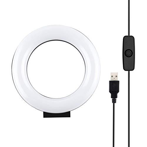 freneci Lámpara en Vivo del Teléfono Selfie de Estudio Fotográfico con Luz LED de 4.7'para Cámara en Vivo de Maquillaje