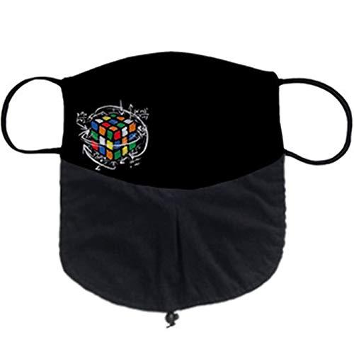 Cubreboca tapaboca para barbudos Reutilizable el Cubo de Rubik para genios matemáticos - Barba Grande