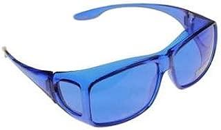 Color Therapy Glasses Fits Over Prescription Glasses (Blue)