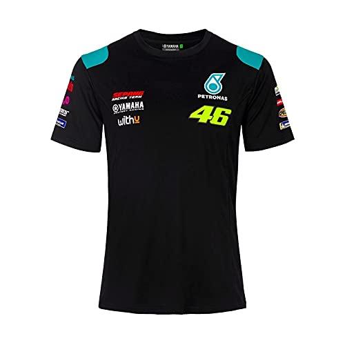 VR46 Maglietta Valentino Rossi Dual Yamaha Petronas Ufficiale MotoGP, Nero , S