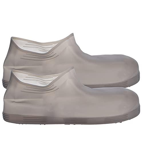 Impermeabile Copriscarpe, Protezioni in Silicone Copriscarpe Scarpe Antiscivolo Stivali per Ciclismo Campeggio All'aperto Pesca Giardino Viaggio Marrone(L)