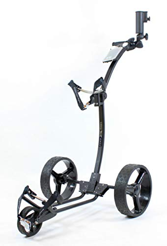 Yorrx® Slim Lion Pro 5 PLUS Golftrolley/Golfwagen/Golf Cart; AKTION: GRATIS REGENSCHIRMHALTER (Schwarz)
