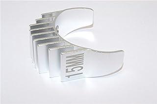 Aluminum Motor Heat Sink Mount 15mm For 1/10 05, 540, 360 Motor - 1Pc Silver