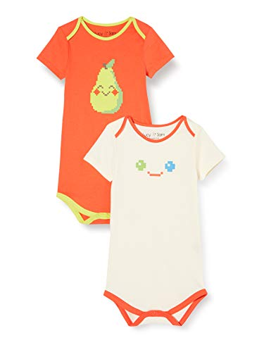 Lucy & Sam Pixel Madness 2 Pack Bodies Body, Multicolore (Multi 94), 6-9 Mois (Taille Fabricant: 6-9M) Mixte bébé
