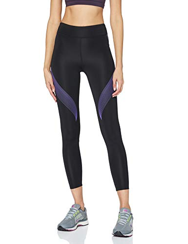 Marca Amazon - AURIQUE Bal181la18 - leggings deporte mujer Mujer, Negro (Black/Dahlia Purple), 40, Label:M