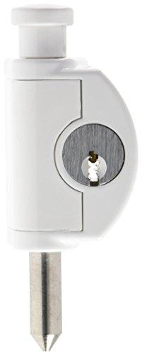 ABUS Fenster-Zusatzsicherung FTR42 W AL0125 - Fenstersicherung mit Edelstahlbolzen, gleichschließend- ABUS-Sicherheitslevel 4 - 56906 - 24 mm - Weiß