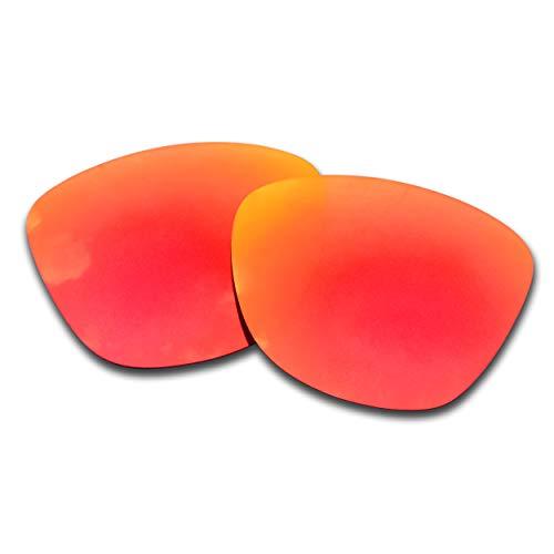 SOODASE Para Oakley Frogskins Gafas de sol Rojo Lentes de repuesto polarizadas