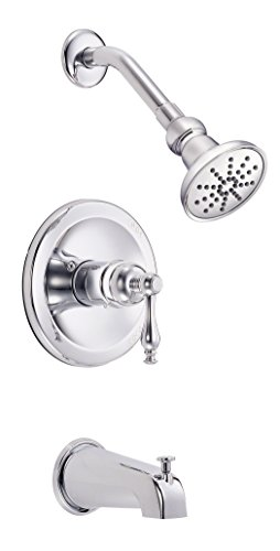 Danze D502155T Sheridan Single Handle Tub and Shower Faucet Trim Kit, Chrome