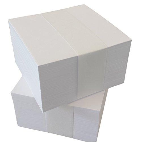 3000 Notizzettel 9x9 cm unbedruckte lose Blätter für Zettelboxen-Nachfüllset (22289)