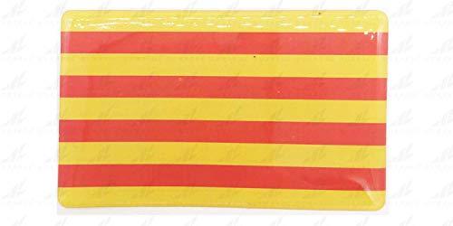 NEWTORO Pegatina de Resina Bandera (Sin Escudo) Aragon Cataluña Valencia Rectangular 70x43mm, 1 Uds