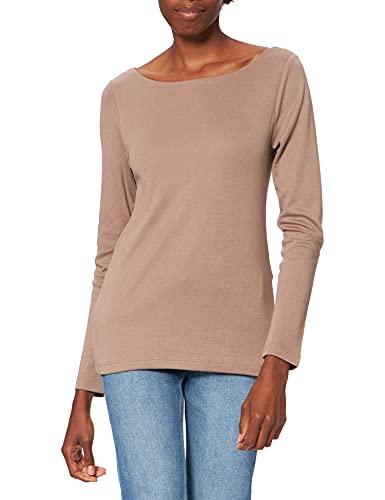 Street One Damen New Lanea T-Shirt, Mocca Sand, 40
