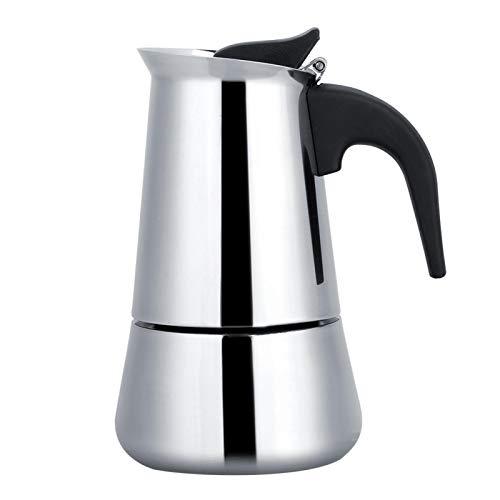Stovetop Moka Espresso Maker, cafetera portátil de acero inoxidable Moka Espresso Maker Mocha Pot para cocinas eléctricas o de gas de inducción(300ml)