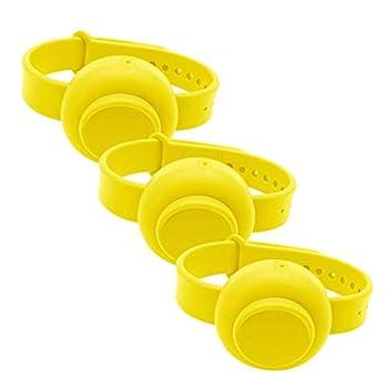 Bracelet de Distributeur de désinfectant pour Les Mains Portable, Squeeze Bottle Savon en Silicone réglables, Bracelet de Distribution de Liquide étanche et Durable Adulte Enfant