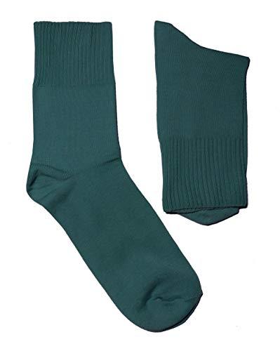 Weri Spezials Damen Ges&heits Socken Baumwolle mit weichem Gummirand Diabetiker (39-42, Blossom petrol)