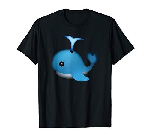 Spouting Whale Emoji Shirt Emoticon Ocean Theme Party Tshirt