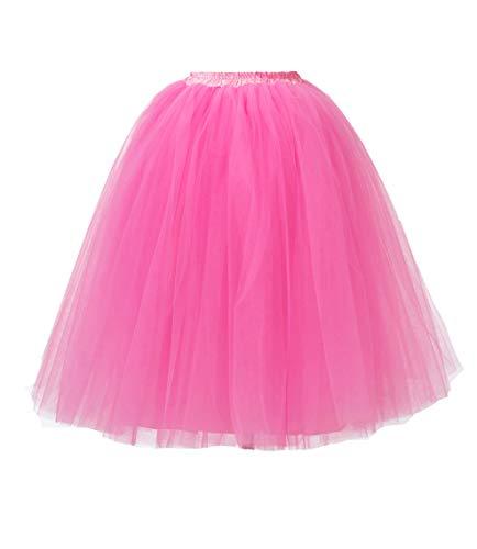 Honeystore Damen\'s Lang Ballet Petticoat Abschlussball Party Zubehör Tutu Unterkleid Rock Pfirsich XL