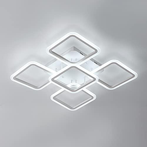 Osairous Lampadario Soffitto LED, 60CM Diametro Plafoniera LED in Acrilico, 90W Lampada da soffitto...