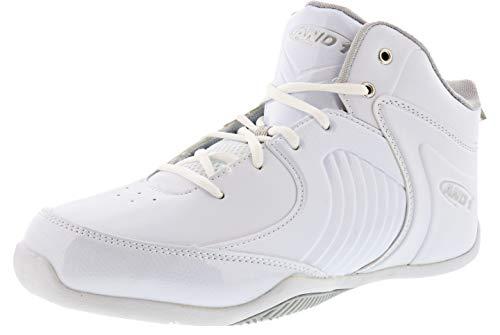 AND1 Men's Tsunami Mid Sneaker (8.5, White)