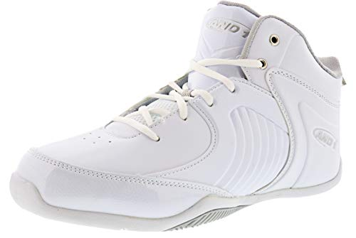 AND1 Men's Tsunami Mid Sneaker (10.5, White)