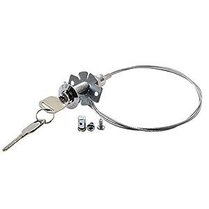 Desbloqueo de Emergencia Candado de Seguridad para Puerta de Garaje Caja Box Apertura de Cerradura Externa Suelte el Motor Pivotante y Selecciónelos - cuerda de acero