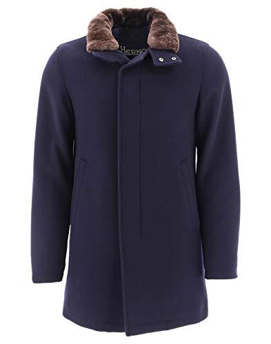 Herno Luxury Fashion Herren CA0071U396019290 Blau Wolle Mantel   Herbst Winter 20