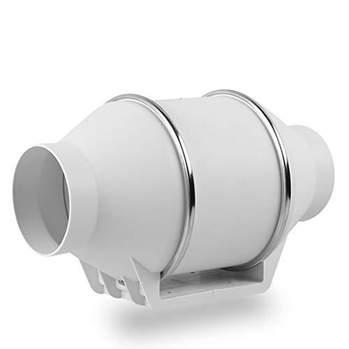 Extractor de aire QIQIDEDIAN Cuarto de baño silencioso conducto Circular 4 Pulgadas / 100 pequeño hogar Extractor Ventilador de ventilación Dormitorio Extractor Ventilador