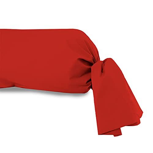 Funda de travesaño 45x135 cm, de algodón, 57 Hilos, SOLEIL D'OCRE roja