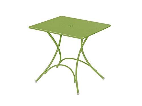 EMU Gartentisch aus Stahl, viereckig, zusammenklappbar, Motiv: Pigalle 76 x 76 cm