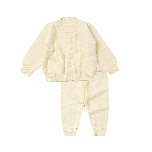Baby-Mädchen Strickpullover Warme Strickjacke Mantel, Strickmuster for Baby-Cardigan, Double Stricke, 100% Baumwolle (Color : 3, Size : 66cm)