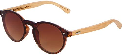 Bamboo Wood Sunglasses for Men and Women Flat Retro Rimmed Wooden Sunglasses product image