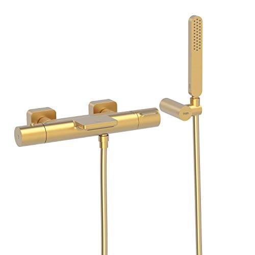 LOFT-COLORS Bañera‑ducha termostática con cascada. Ducha de mano anticalcárea con soporte orientable y flexo SATIN. Inversor integrado en el regulador de caudal.