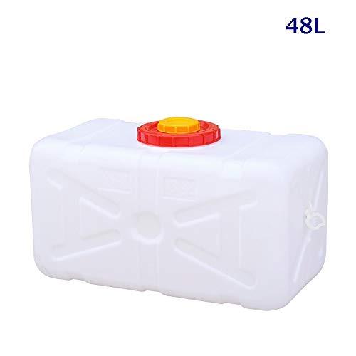 Guoda Wasserkanister  Lebensmittelqualität   Mit Wasserventil   Tragbar 48L   Weiß