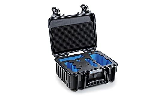 B&W Transportkoffer Outdoor für Drohne DJI Mavic Air 2, DJI Air 2S oder der Fly More Combo Versionen Type 3000 schwarz - wasserdicht nach IP67 Zertifizierung