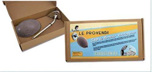 Französischer Seifenhalter mit Zedernseife braun (Zeder/Cèdre) 300 GR aus dem Hause Provendi