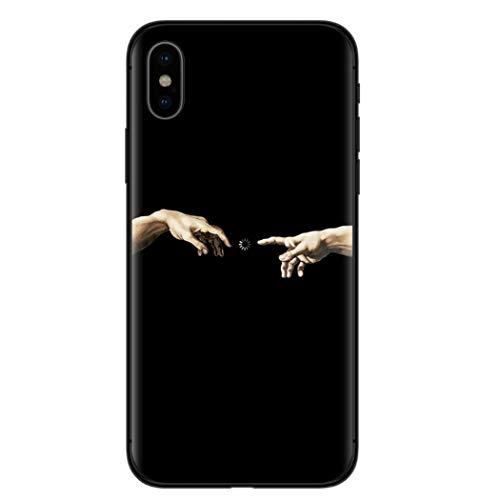 APHT Famous Artists Cover Phone Case TPU Silicone Morbida Cool Funny Stampato Designer Slim Cover Posteriore Leggera Compatibile Arte Sarcastico Citazione Divertente per Apple iPhone 5-12