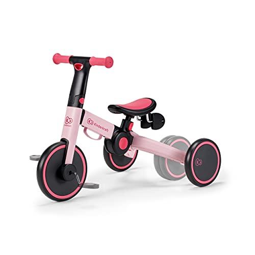 kk KinderKraft Tricycle 4TRIKE candy pink - Sillas de paseo, Unisex Infantil, Rosa(candy pink), KR4TRI00PNK0000